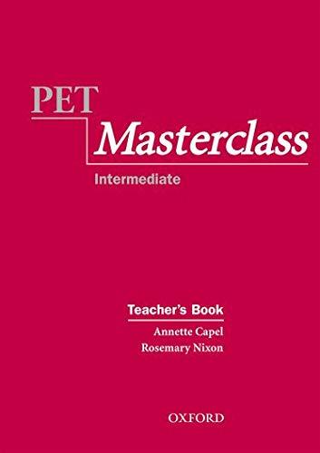 9780194514057: PET Masterclass:: Teacher's Book