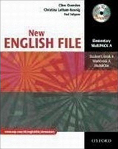 9780194518222: New English file. Elementary. Student's pack. Part A. Student's book-Workbook. With key. Per le Scuole superiori