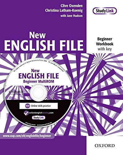 9780194518734: New English File: Workbook with Key and Multirom Pack Beginner Level: Six-Level General English Course for Adults
