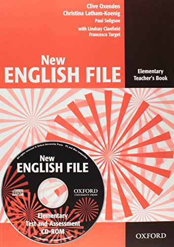 9780194518871: New English File: Elementary: Teacher's Book with Test and Assessment CD-ROM: Six-level general English course for adults