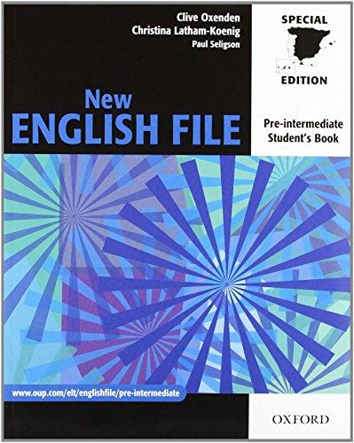 New english file pre-intermediate. Student's book. Con: Oxenden, Clive