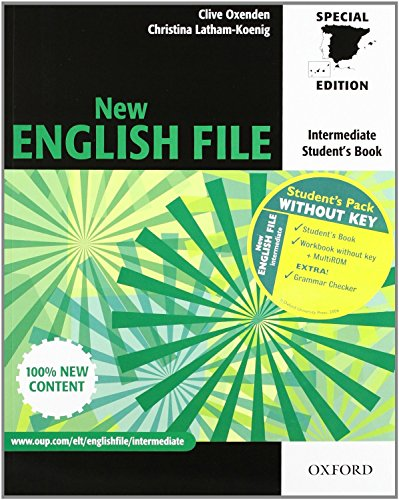 9780194519489: New english file int sb+wb w/o mrom pk