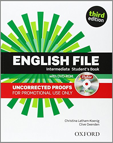 9780194519991: English File 3e Intermediate Students Book Bound Proofs