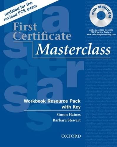 9780194522045: First certificate masterclass. Workbook. With key. Per le Scuole superiori. Con Multi-ROM