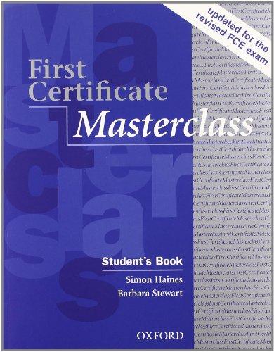 9780194522106: FIRST CERTIFICATE MASTERCLASS PACK
