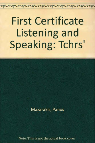 9780194532532: First Certificate Listening and Speaking: Teacher's Edition