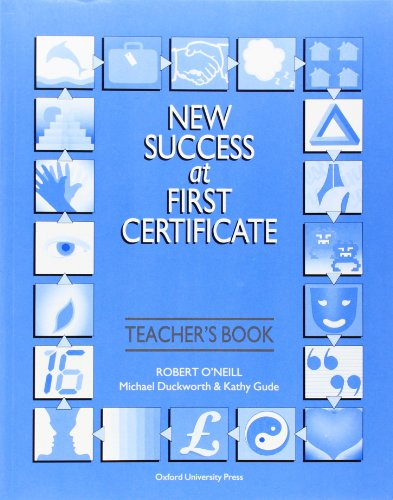 9780194533348: NEW SUCCESS AT FIRST CERTIFICATE. Teacher's book