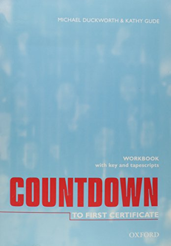 Certificate students book to first countdown