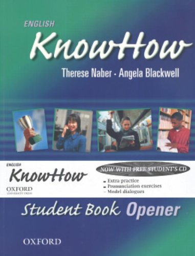 9780194536677: English KnowHow Opener: Student Book