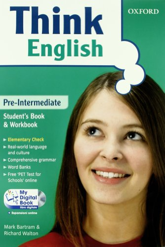 9780194548816: Think English. Pre-intermediate. Entry book-Student's book-Workbook-My digital book. Con espansione online. Per le Scuole superiori. Con CD-ROM