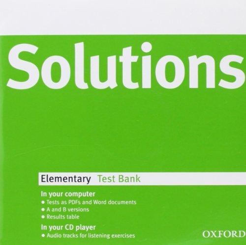9780194551649: Solutions Elementary: Test Bank MultiROM