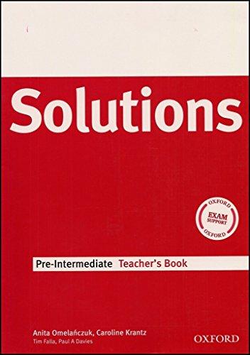 9780194551779: Solutions Pre-Intermediate: Teacher's Book