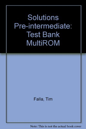 9780194551793: Solutions Pre-Intermediate: Test Bank MultiROM