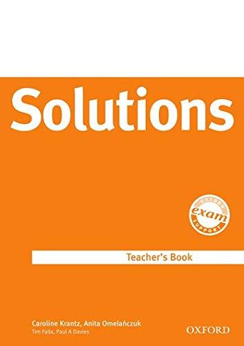 9780194552073: Solutions Upper-Intermediate: Teacher's Book