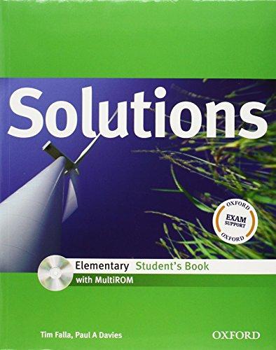 9780194552561: Solutions. Elementary. Student's book-Workbook. Con espansione online. Con CD Audio. Per le Scuole superiori