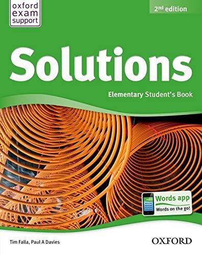 SOLUTIONS ELEMENTARY SB