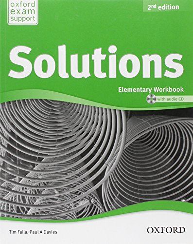 9780194552813: Solutions. Elementary. Workbook and Audio CD Pack (Miscellaneous) - 9780194552813 (Solutions Second Edition)