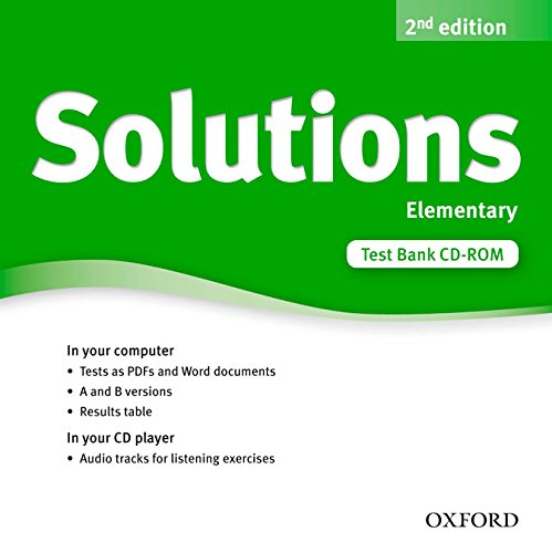 9780194553391: Solutions Elementary: Test CD-ROM 2nd Edition (Solutions Second Edition)