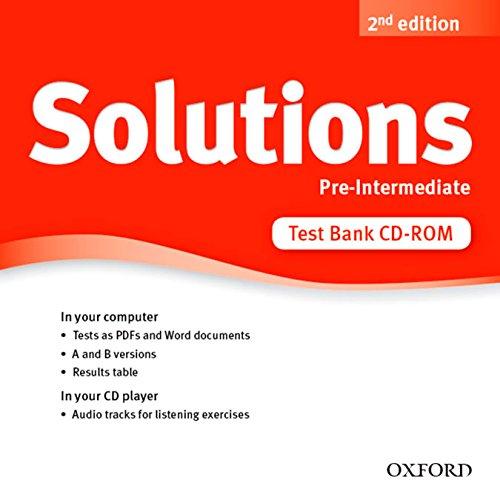 Solutions: Pre-Intermediate: Test Bank CD-ROM