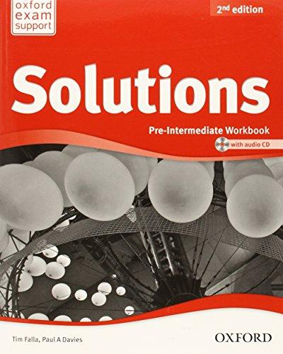 9780194553667: Solutions. Pre-intermediate. Workbook. Con CD Audio. Per le Scuole superiori