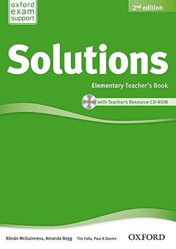 9780194553704: Solutions: Elementary: Teacher's Book and CD-ROM Pack