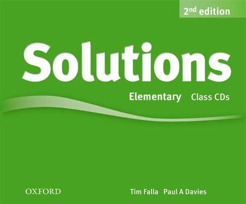 9780194554237: Solutions: Elementary: Class Audio CDs (3 Discs)