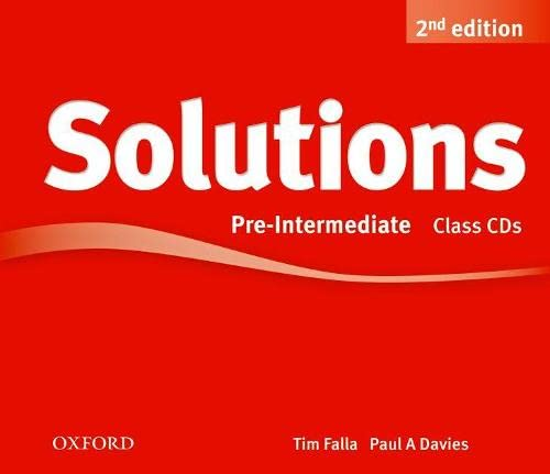 9780194554244: Solutions: Pre-Intermediate: Class Audio CDs (3 Discs)