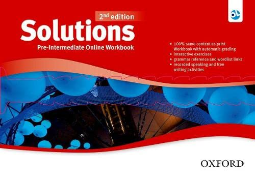 9780194554930: Solutions: Pre-Intermediate: Online Workbook - Card with Access Code