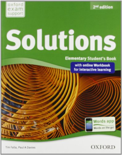 9780194555104: Solutions. Elementary. Student's book-Workbook. Con espansione online. Per le Scuole superiori