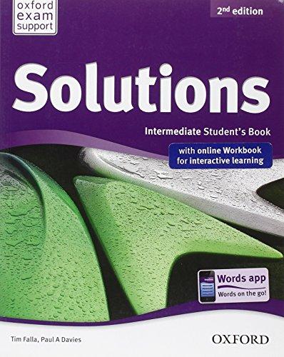 9780194555128: Solutions. Intermediate. Student's book-Workbook. Per le Scuole superiori. Con espansione online