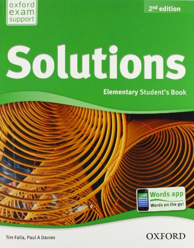 9780194555470: Solutions. Elementary. Student's book-Workbook. Per le Scuole superiori. Con CD Audio