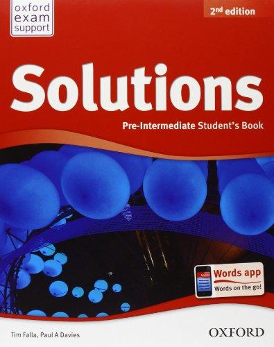 9780194555487: Solutions. Pre-intermediate. Student's book-Workbook. Con CD Audio. Per le Scuole superiori