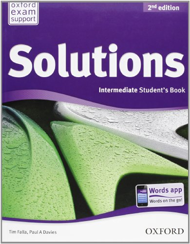 9780194555494: Solutions. Intermediate. Student's book-Workbook. Con CD Audio. Per le Scuole superiori