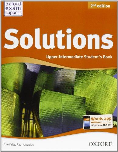 9780194555500: Solutions. Upper intermediate. Student's book-Workbook. Per le Scuole superiori. Con CD Audio