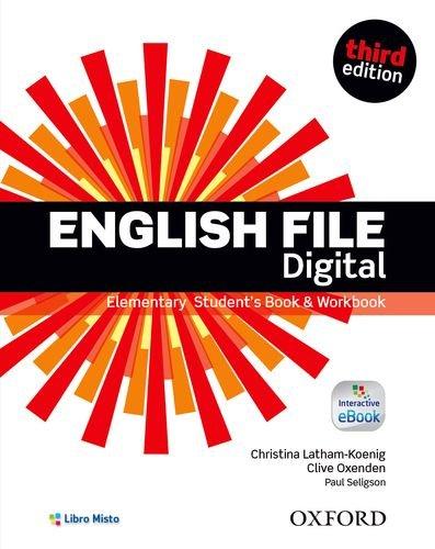 9780194558853: English file digital. Elementary. Student's book-Workbook-Vocabulary checker. Con e-book. Con espansione online. Per le Scuole superiori