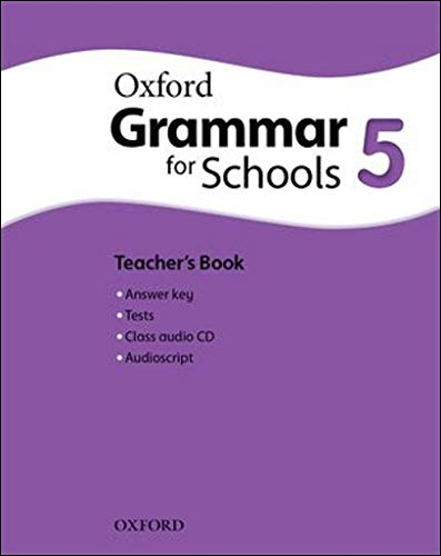 9780194559188: Oxford Grammar for Schools: 5: Teacher's Book and Audio CD Pack