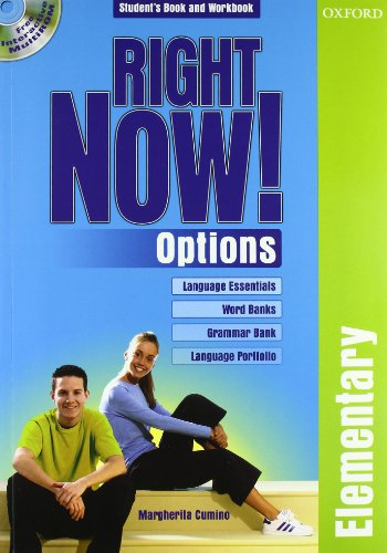 9780194561129: Right now! Options. Elementary. Student's pack. Per le Scuole superiori. Con CD-ROM