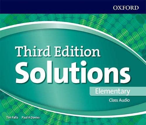 9780194561945: Solutions 3rd Edition Elementary. Class Cd (Solutions Third Edition)