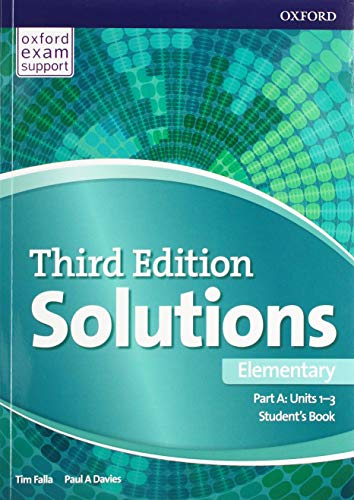 Solutions: Elementary: Student's Book A Units 1-3: Paul Davies, Tim