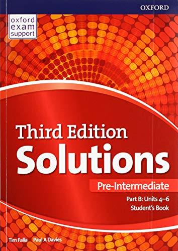Solutions: Pre-Intermediate: Student's Book B Units 4-6: Paul Davies, Tim