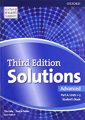 Solutions: Advanced: Student's Book A Units 1-3: Paul Davies, Tim