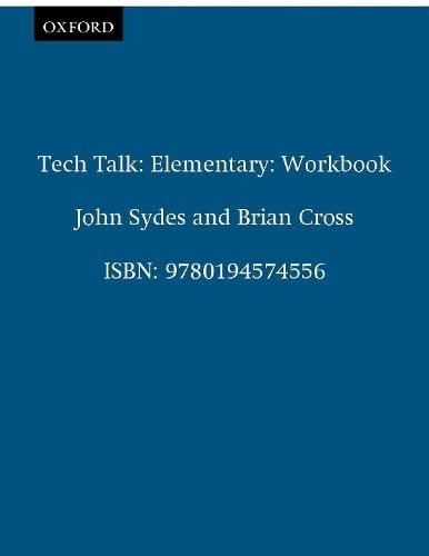 9780194574556: Tech Talk Elementary: Workbook
