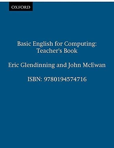 Basic English for Computing: Teacher s Book