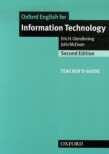 Oxford English for Information Technology: Teacher's Guide (0194574938) by Eric Glendinning; John McEwan