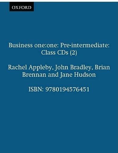 9780194576451: Business one:one Pre-intermediate: Class CDs (2)