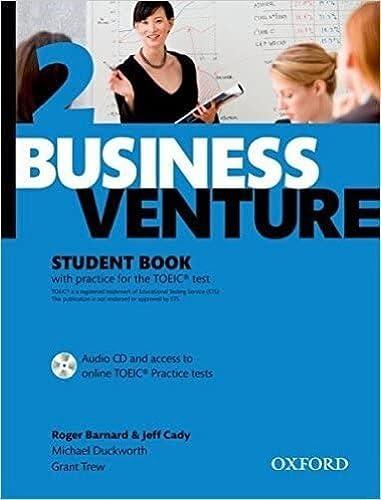 9780194578189: Business Venture 2 Pre-Intermediate: Student's Book Pack (Student's Book + CD)