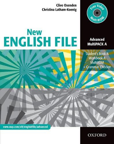 9780194595841: New english file adv multipack a ( CD-Rom+Student Book+Workbook) (New English File Second Edition)