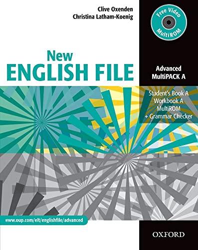 9780194595841: New english file. Advanced. Vol. A. Student's book-Workbook-Key. Per le Scuole superiori. Con Multi-ROM