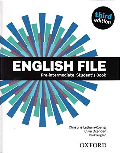 9780194598576: English File Third Edition Pre Intermediate Student Book (Uk)