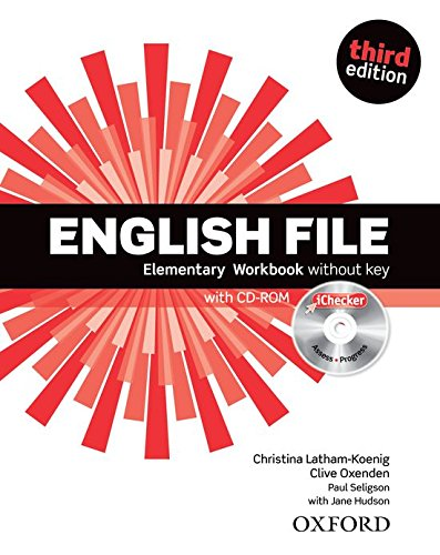 9780194598705: English File Elementary Workbook and iChecker Pack